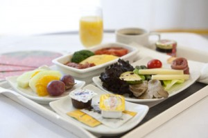 Greek menu on Lufthansa flights