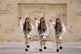 Euzones-Unkown-Soldier-monument-Athens-Greece